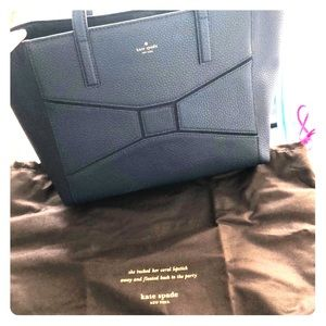 FLASH SALE🔉Navy bow Kate Spade bag